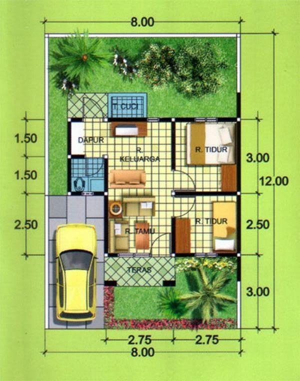Rancangan Denah Desain Rumah Minimalis Type 36 » Gambar 9 | MUR