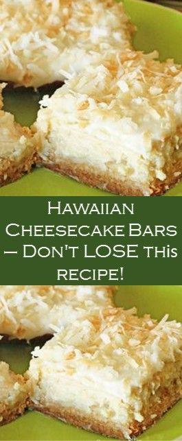 Hawaiian Cheesecake Bars – Don't LOSE Thіѕ Recipe! #Cake #Yummy #Recipe