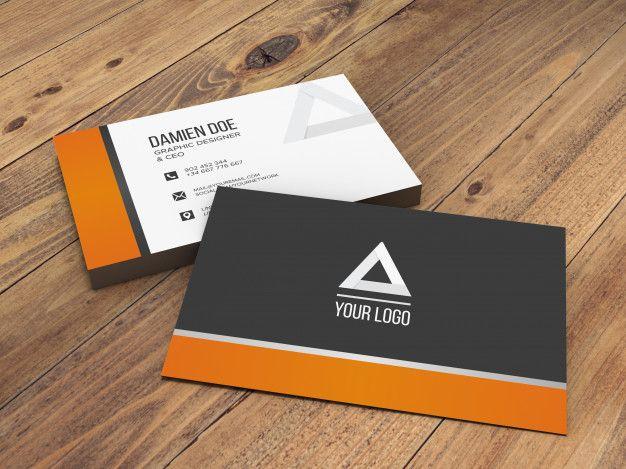 Download Elegant Realistic Wooden Background Business Card Mockup For Free Business Card Mock Up Business Cards Mockup Psd Business Card Psd