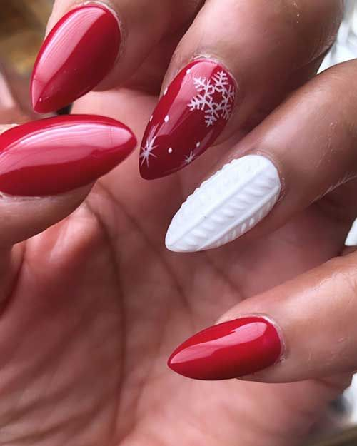 Most Beautiful and Attractive Red Christmas Nails