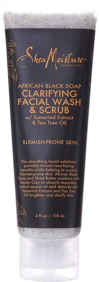 Shea Moisture African Black Soap Facial Wash And Scrub Shea Moisture Products Facial Wash Black Soap
