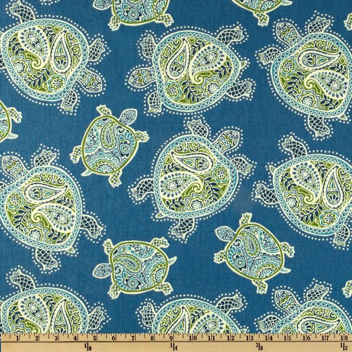 Tommy Bahama Home Tranquil Turtles Peninsula, Fabric.com