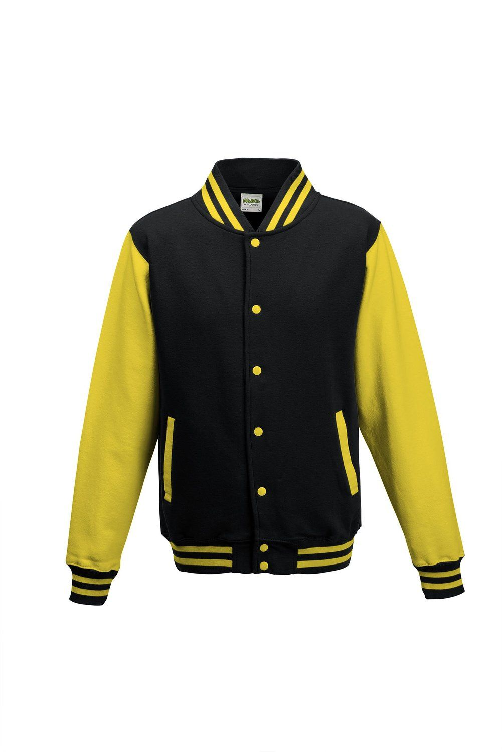 Amazon.com: Awdis Unisex Varsity Jacket (XL) (Jet Black/ Sun Yellow): Sports & Outdoors