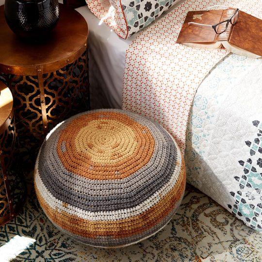 Caron® Big Cakes™ Crochet Pouf in Tiramisu