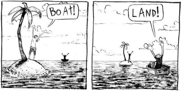 Boat Land Cartoon Wanted Comic Morning Jokes Funny Comics