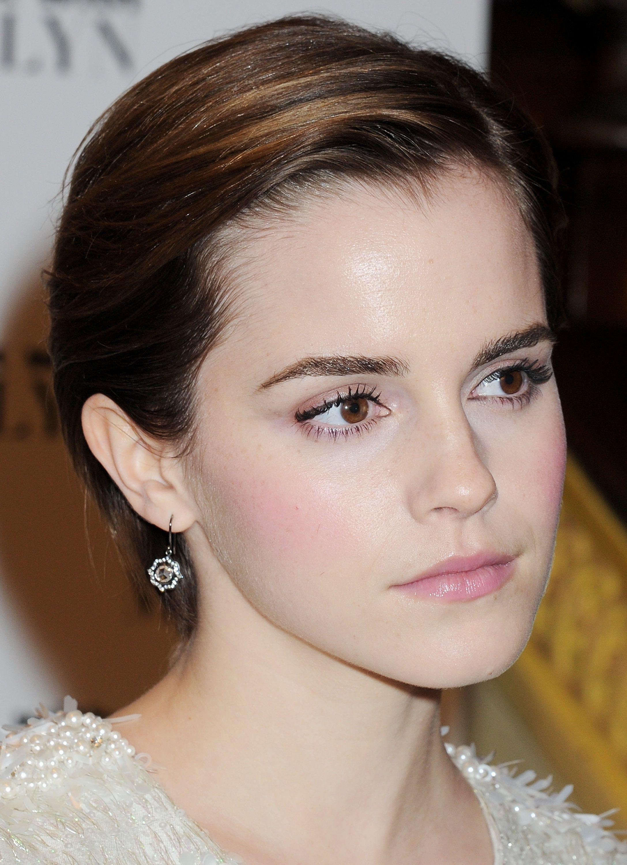 Emma Watson is wearing the Nova earrings in 18ct blackened