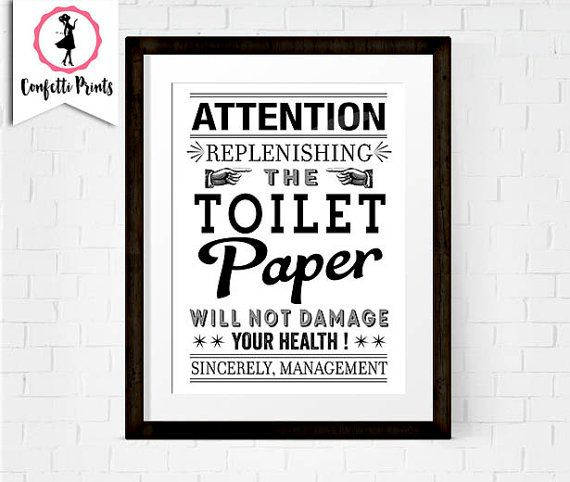 photo about Printable Bathroom Rules referred to as Lavatory Paper Print Humorous Toilet Artwork Rest room Pointers