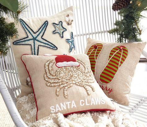 Beach Christmas Pillows: http://www.completely-coastal.com/2015/11/sea-inspired-coastal-christmas-collections.html
