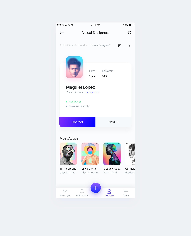 Dribbble reppr profile 2 full | Mobile UI Inspiration | App ui