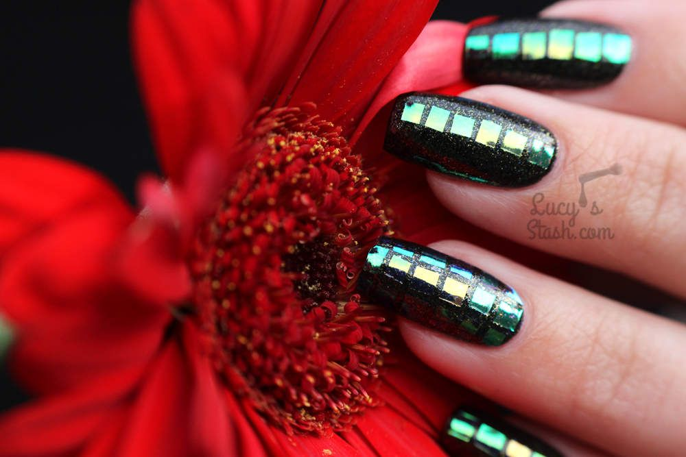 All About Squares Nail Art With Models Own Glittergel Starburst
