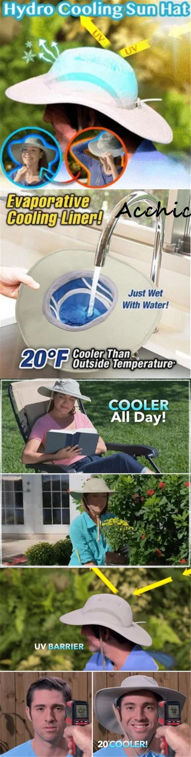 Hydro Cooling Sun Hat Is The New Hat That Combines Controlled