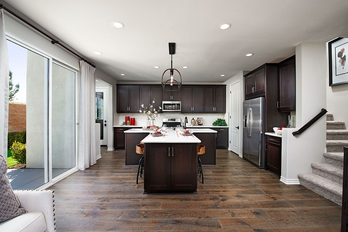 t shaped island adds convenience and visual appeal ledford model home kitchen chino ca on t kitchen ideas id=72611