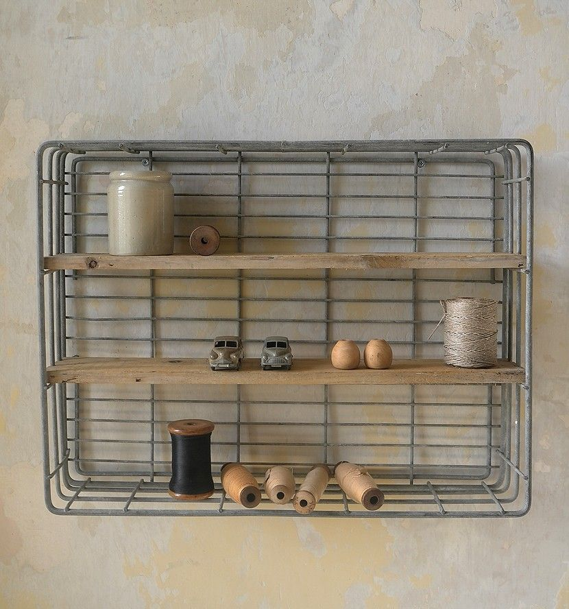 1960 39 s bakery trays used as shelves interieur. Black Bedroom Furniture Sets. Home Design Ideas