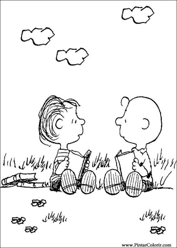 Pintar e Colorir Snoopy - Desenho 016 | スヌーピー | Pinterest