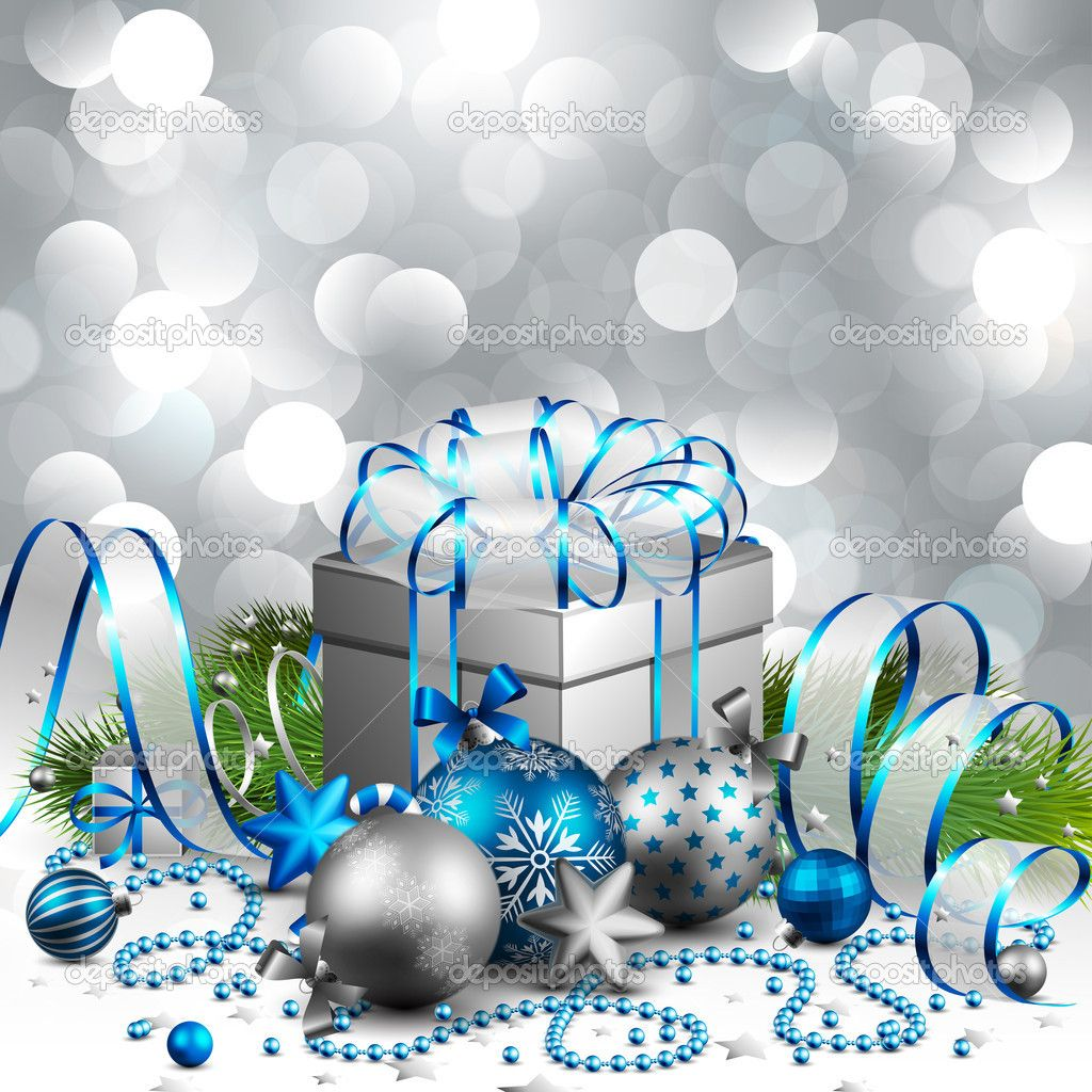 blue and silver christmas background - Google Search   Cheers for ...