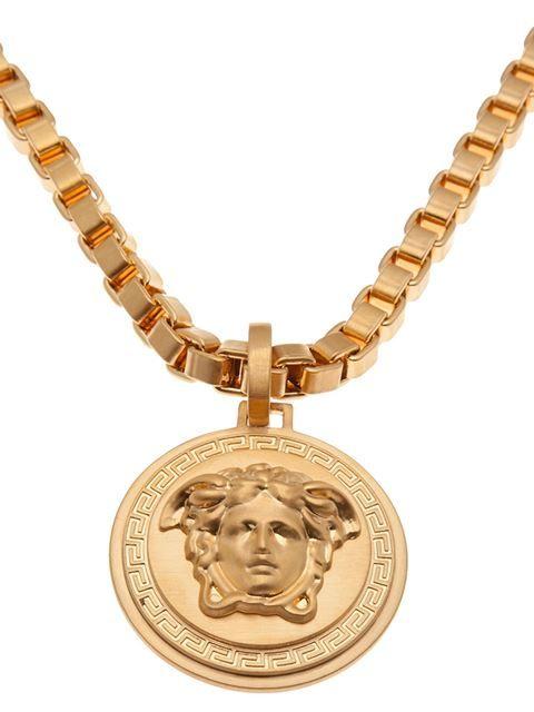 Versace Medusa Pendant Necklace Farfetch Medallion Necklace Necklace Pendant Necklace