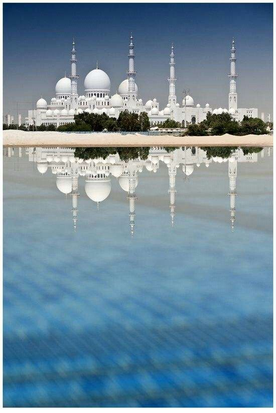 #AbuDhabi ;) Reflection of Mosque. . .  Flew to Abu Dhabi for the weekend for a blind date in 2004 while living in Athens.