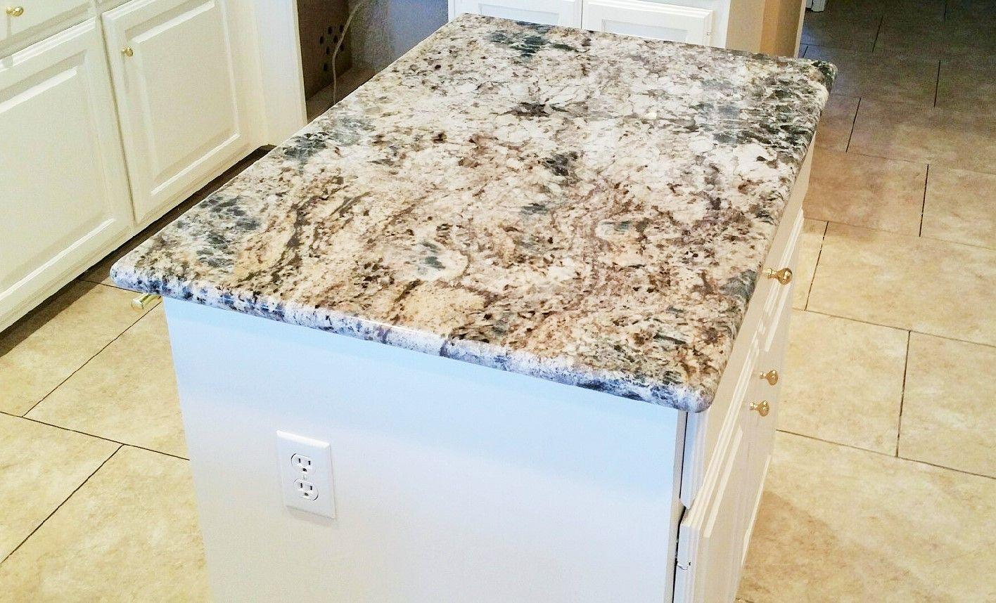 Blue flower granite granite kitchen countertops