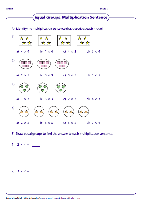 Arrays, Multiplication and Division