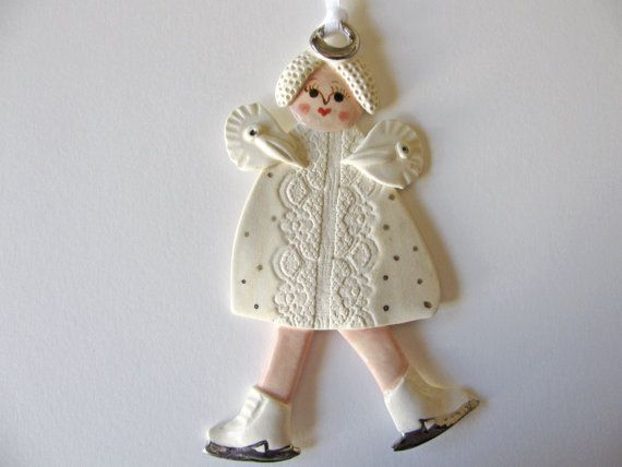 Ice Skating Angel Ornament by TinaFrancisDesigns on Etsy, $23.00