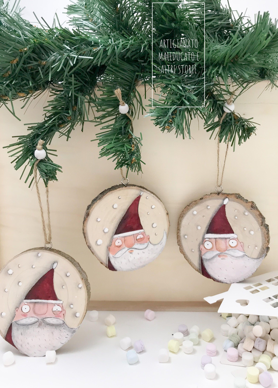 Fai Da Te Decorazioni Casa babbo natale decorazione albero in legno decorazioni