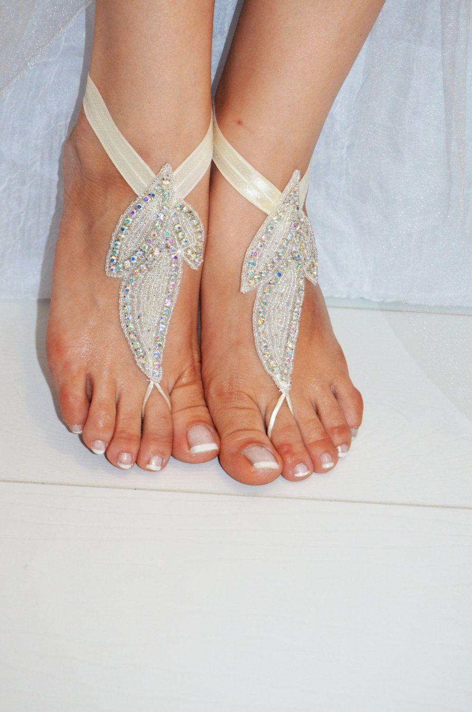 Beach wedding foot jewelry  wedding Bridal Foot Jewelry Beach Sandals Destination by newgloves