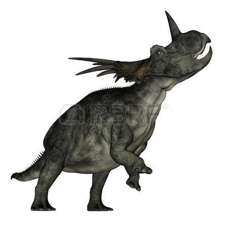 динозавр Стиракозавры динозавр рев - 3D визуализация
