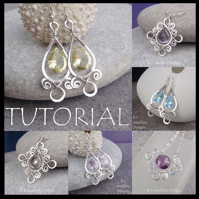 Spiral Loop Frames - Wire Jewelry Tutorial by KSJewelleryDesigns, via Flickr