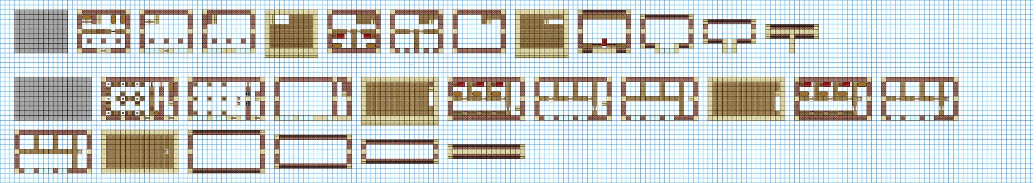 Npc village buildings by coltcoyote on deviantart apps directories - Minecraft Blueprints