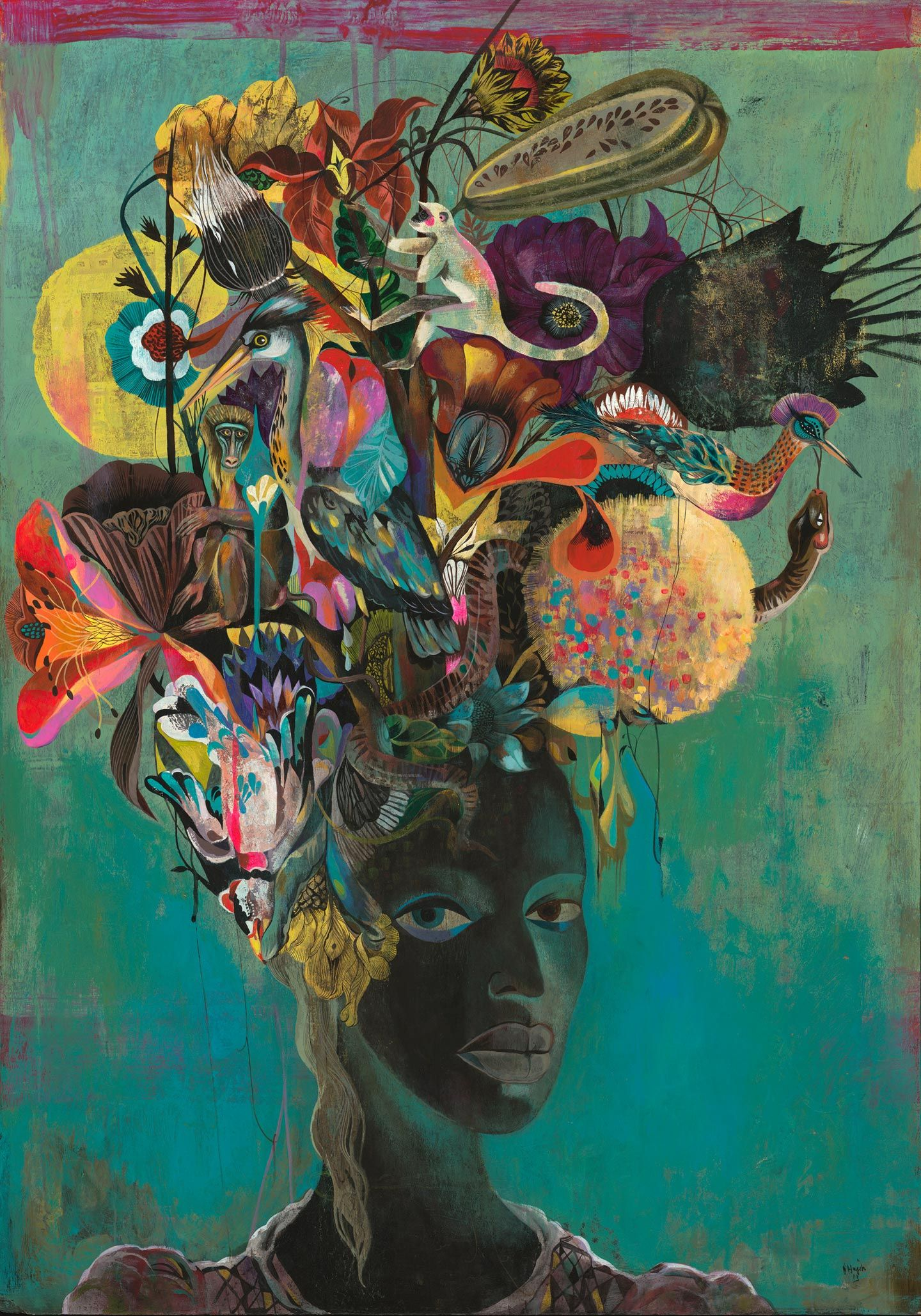 Black Paradise Ii Olaf Hajek Dope Art. In 2019 Art Colossal Illustration