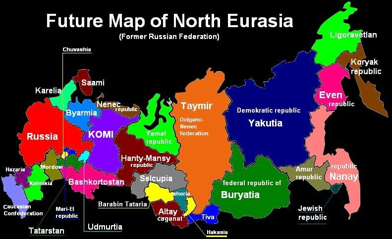 Future Map of North Eurasia | Russia map, Russia, Russian states