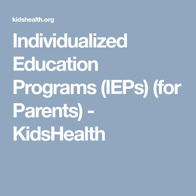 Individualized Education Programs Ieps For Parents Kidshealth >> Interior Example Four Es El Pee Slp Interior