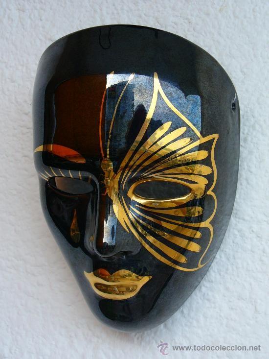 Mascaras De Yeso Decoradas Con Mariposas Buscar Con Google Venetian Carnival Masks Masks Art Mask Painting