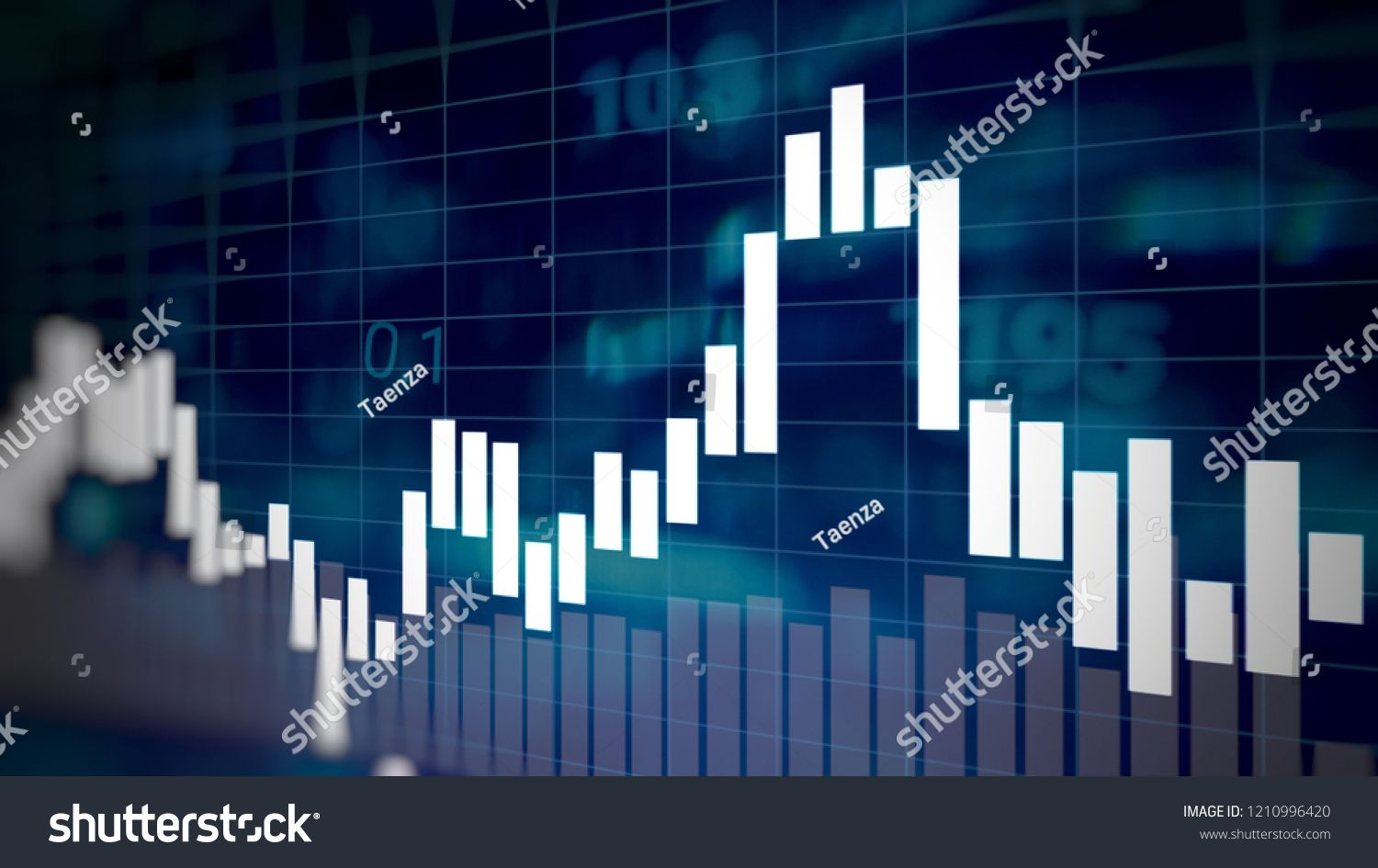 Candlesticks On Forex Business Candle Stick Graph Chart Of Stock
