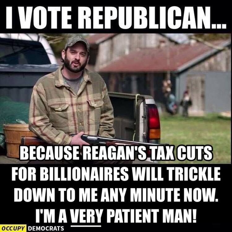 Image result for reagan tax cuts memes