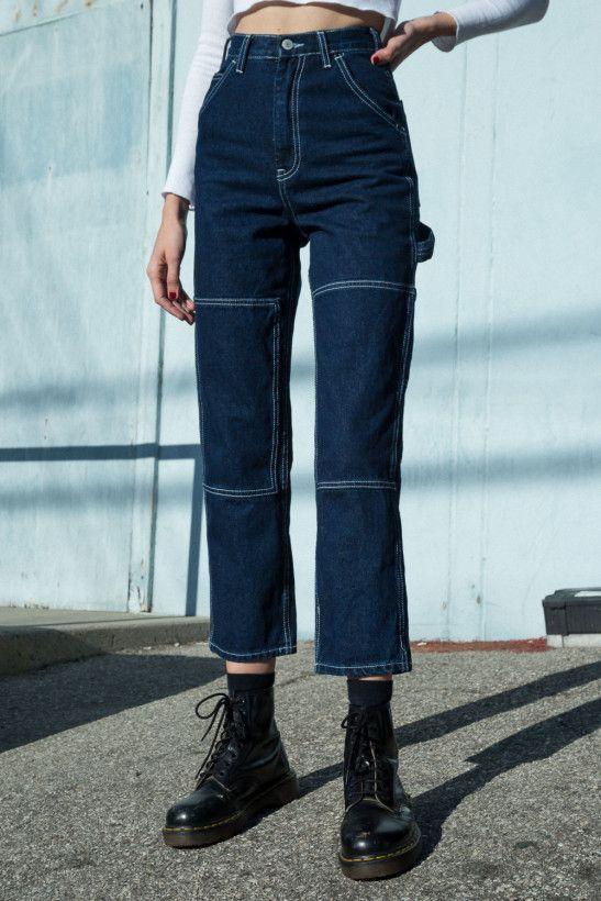 Ariana Dark Wash Painter Hosen  Jeans  Unterteile  Bekleidungariana