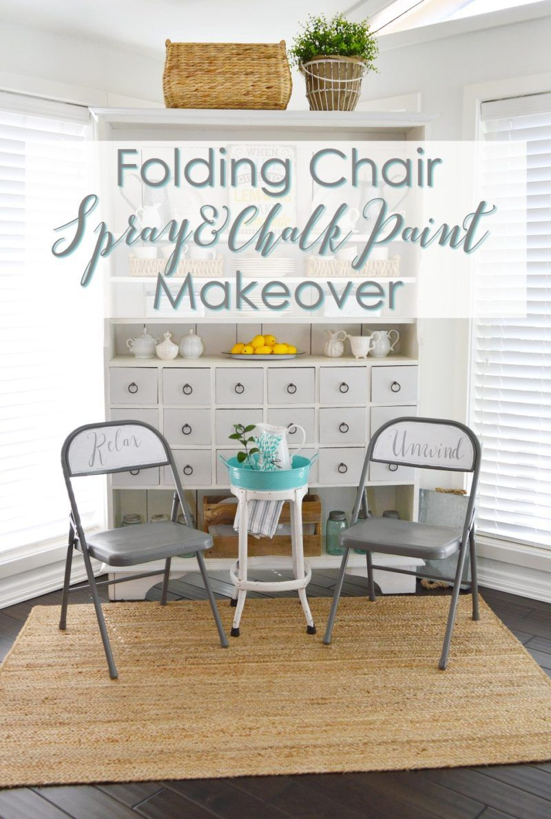 Spray And Chalk Paint Folding Chair Makeover Folding