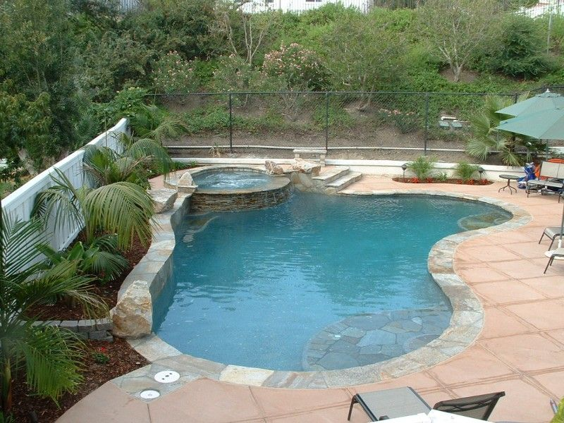 Special Features Stacked Quartzite Spa Wall Coping And