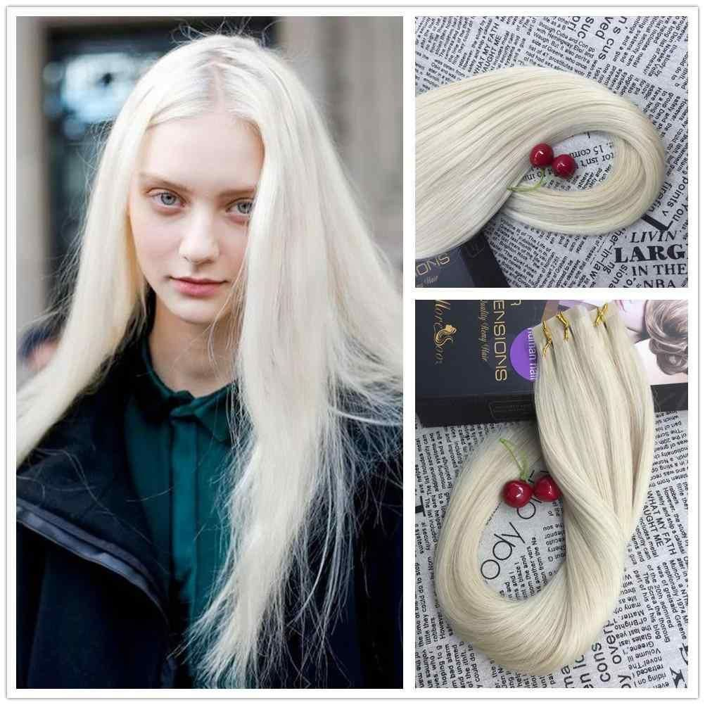 3499 Moresoo Tape In Hair Extensions Platinum White Blonde 60