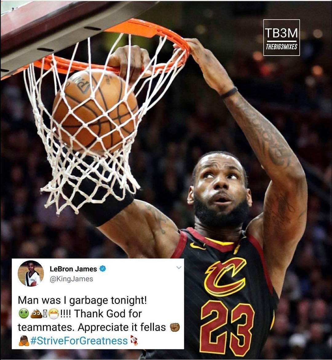 Lebrons tweet after the game NO COPYRIGHT INTENDED!  BucketInsider  NBA   ROTY   9280f7039