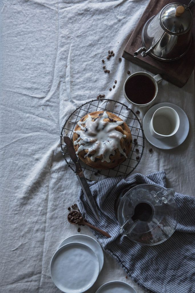 blueberry, buttermilk, & rosemary brown butter cake