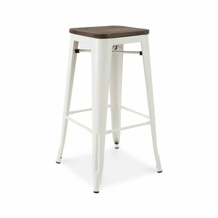 French Industrial Wood And Metal Bar Stools Set Of 4 With Images Wood Bar Stools Metal Bar Stools Bar Stools