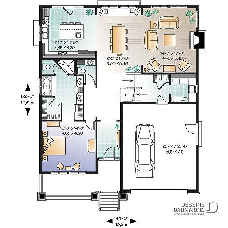 RezDeChausse Du Plan De Maison Unifamiliale W  Plans De