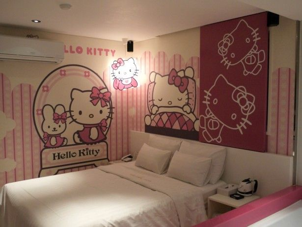 Bedroom Cute Hello Kitty Bedroom Design Hello Kitty Bedroom Prepossessing Hello Kitty Bedroom Designs Inspiration