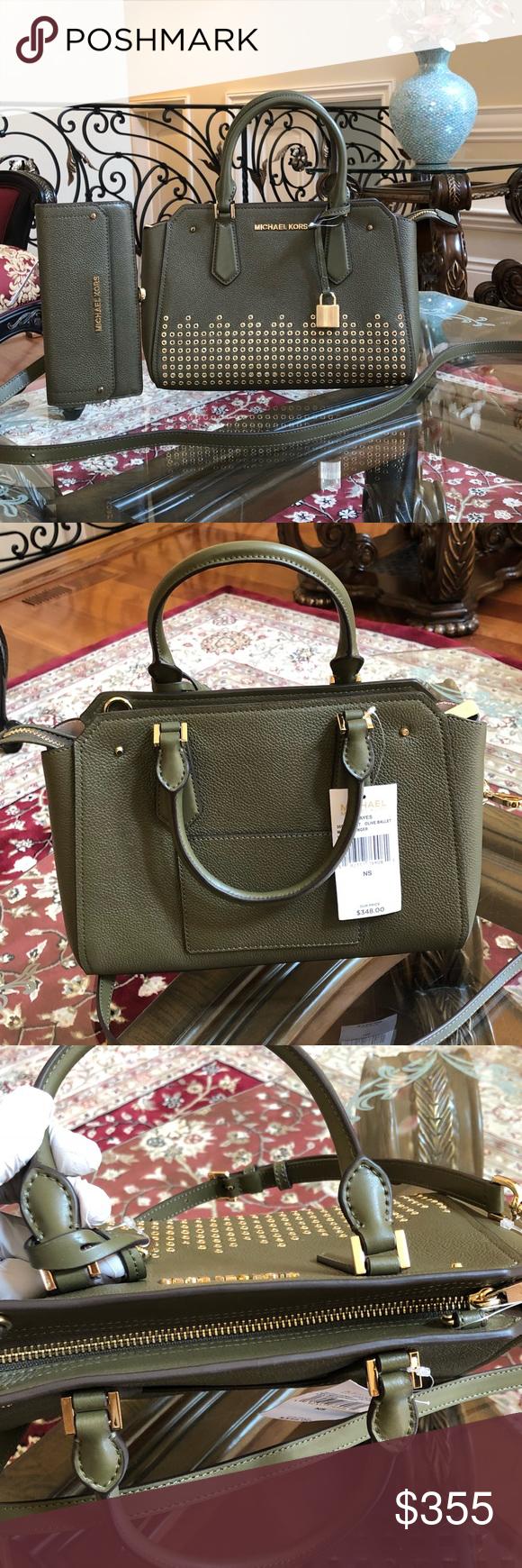 f999e5bfe87c Authentic Michael Kors Hayes medium handbag amp wallet Guaranteed Authentic Bundled  2PCS Handbag+Wallet set