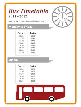 Role Play Bus Timetable...An editable bus timetable, ideal to use in ...