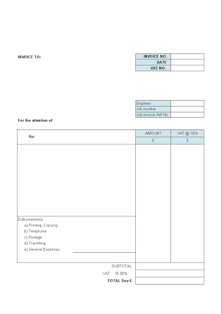 Simple Printable Sale Blank Invoice Templates Invoice Template Word Invoice Template Printable Invoice