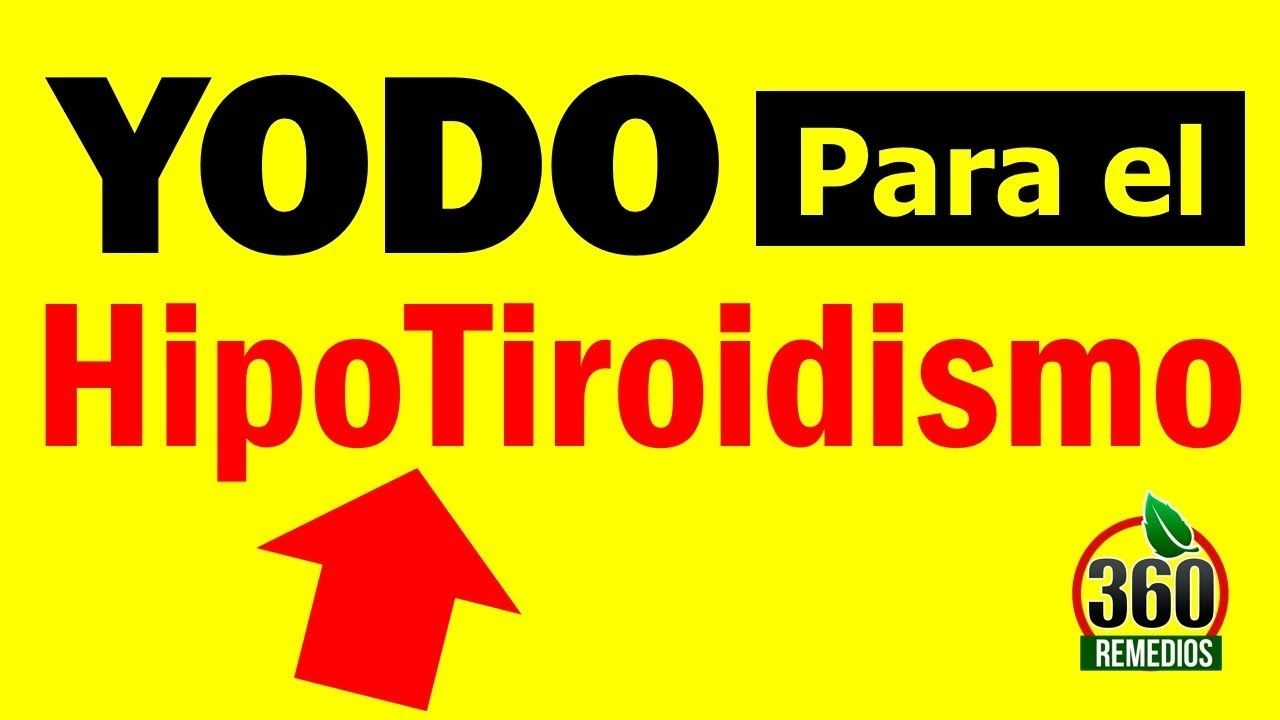 Dieta rica en yodo para el hipotiroidismo