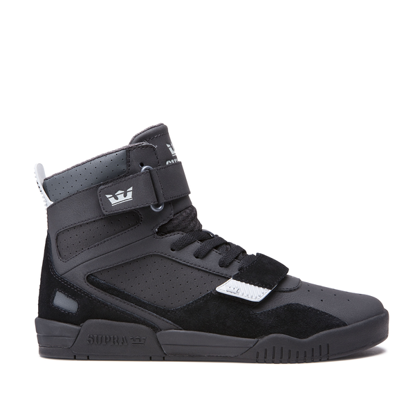 Supra Breaker Black Basketball Sneakers Supra Shoes Sneakers Men Fashion High Top Basketball Shoes