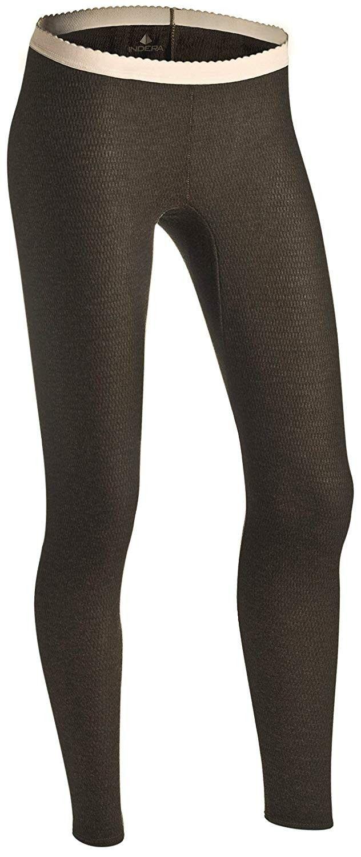 Women's Raschel Knit Merino Wool Blend Thermal Underwear Pant - Moss Green - CQ12D3T71N5 - Sports &...